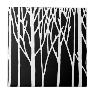 Birch Forest by Leslie Peppers Ceramic Tile