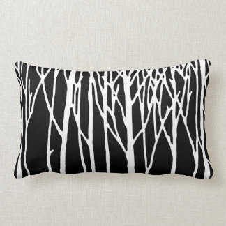 Birch Forest by Leslie Peppers Lumbar Cushion