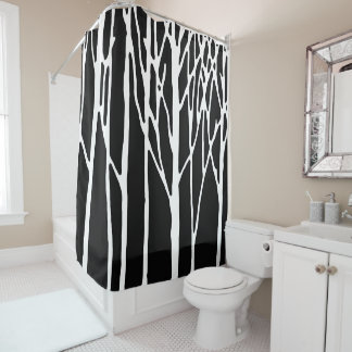 Birch Forest by Leslie Peppers Shower Curtain