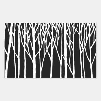 Birch Forest by Leslie Peppers Rectangular Sticker