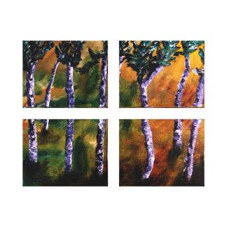 Birch Forest Panels Canvas Canvas Prints