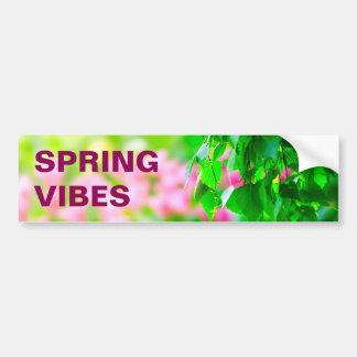 Birch leaves tulip flowers customizable bumper sticker