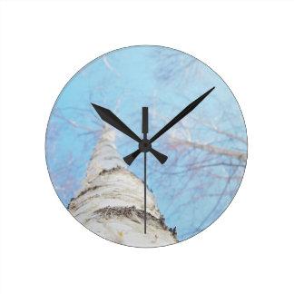birch round clock