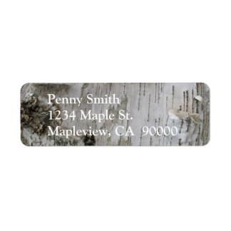Birch Tree Bark Peeled Old Photo Art Return Address Label