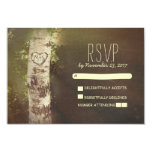 Birch tree country rustic wedding RSVP cards Invitations