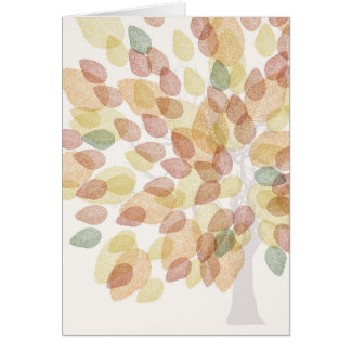 Birch Tree in Fall Colors Card