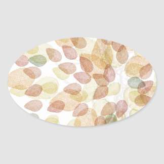 Birch Tree in Fall Colors Oval Sticker