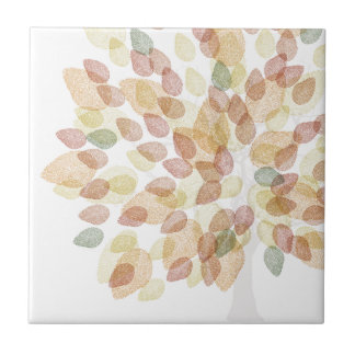 Birch Tree in Fall Colors Tile