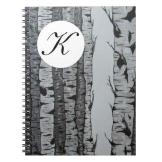 Birch Tree Notebook w/ Personalized Monogram/Name