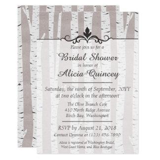 Birch Tree Rustic Nature Bridal Shower Invitation