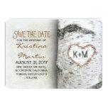 Birch Tree Rustic Save The Date Cards Custom Invite