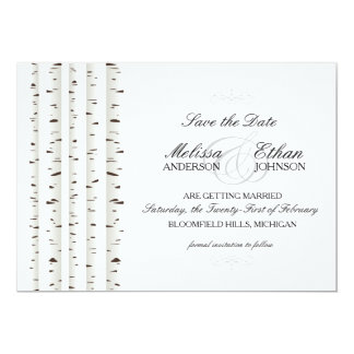 Birch Tree Save the Date Card