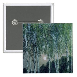 Birch Trees 15 Cm Square Badge