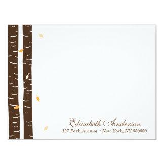 Birch Trees Custom Flat Note Cards