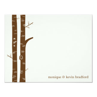 Birch Trees Flat Thank You Card 11 Cm X 14 Cm Invitation Card