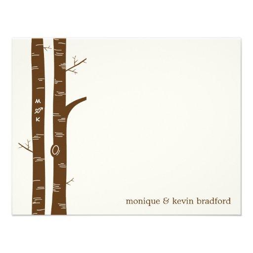 Birch Trees Flat Thank You Card Custom Invite
