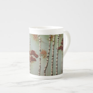 Birch Trees in Fall Tea Cup