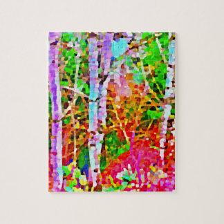 Birch Trees in Springtime Jigsaw Puzzle
