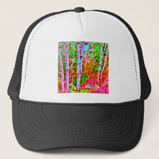 Birch Trees in Springtime Trucker Hat