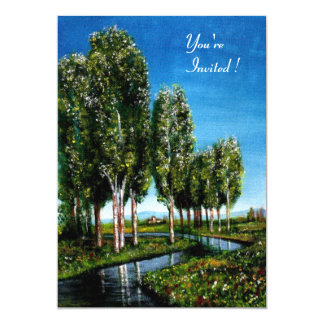 BIRCH TREES IN TUSCANY CARD