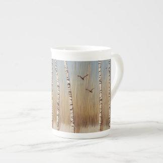 Birch Trees in Winter Tea Cup