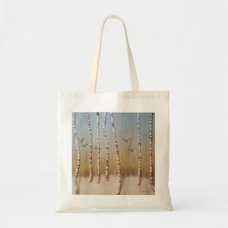 Birch Trees In Winter Tote Bag