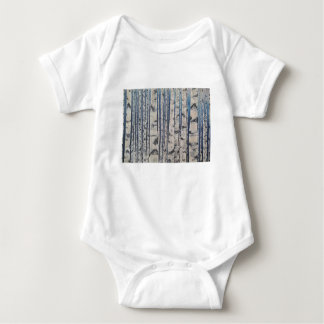 Birch trees Morse Code Baby Bodysuit