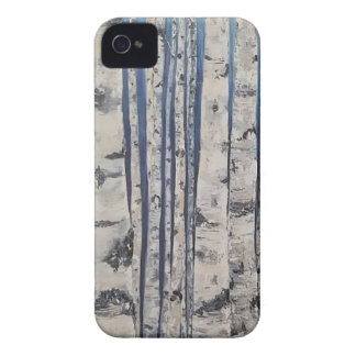Birch trees Morse Code iPhone 4 Covers