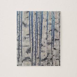 Birch trees Morse Code Jigsaw Puzzle
