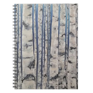 Birch trees Morse Code Notebook