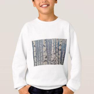Birch trees Morse Code Sweatshirt