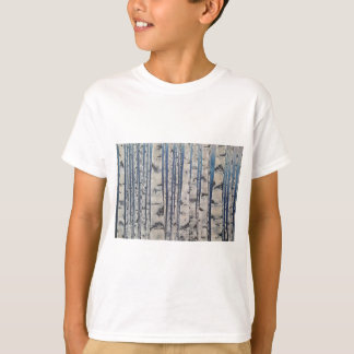Birch trees Morse Code T-Shirt