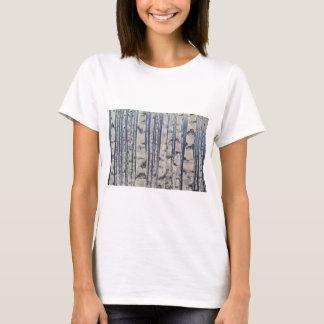 Birch trees Morse Code T-Shirt