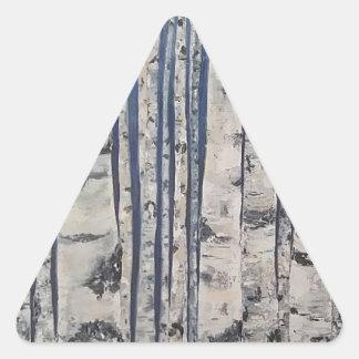 Birch trees Morse Code Triangle Sticker
