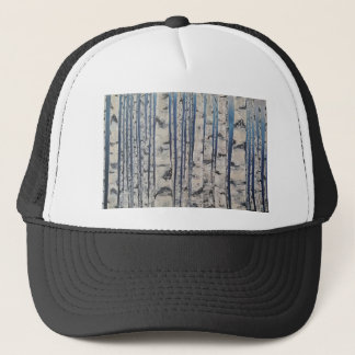 Birch trees Morse Code Trucker Hat