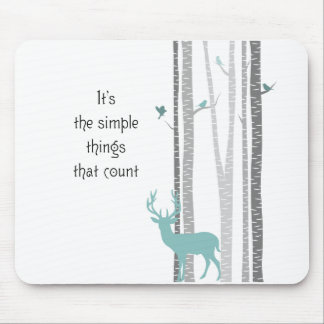 Birch Trees with Deer Simple Things Count Mouse Pad