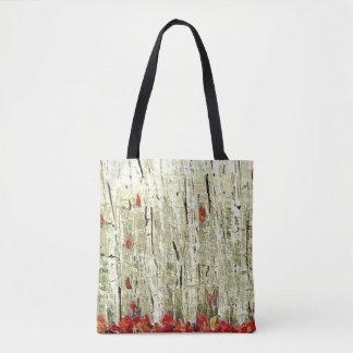 Birch wood Forrest tote