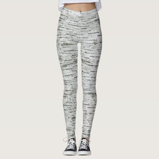 Birch Wood Texture Leggings
