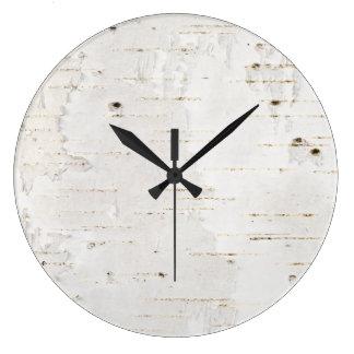 Birchbark Large Clock