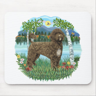 Birches - Brown Portie 2 Mouse Pad