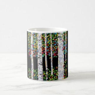 Birches collage mug