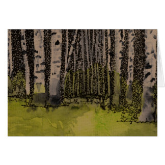 Birches in the Spring Blank Card