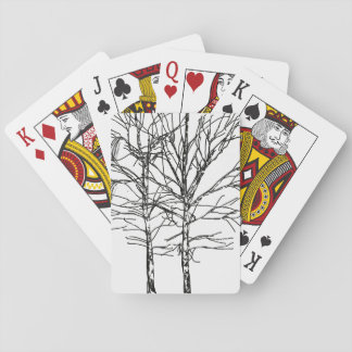 Birches Playing Cards