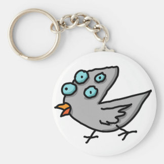 Bird 5 basic round button key ring