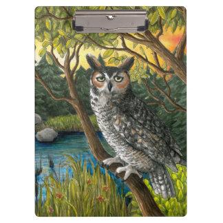 Bird 68 Owl Clipboard
