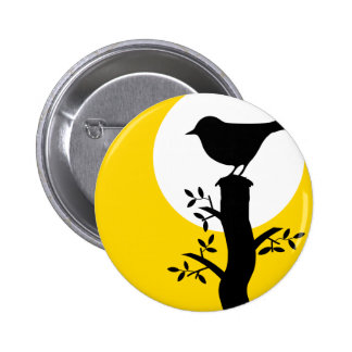 Bird 6 Cm Round Badge