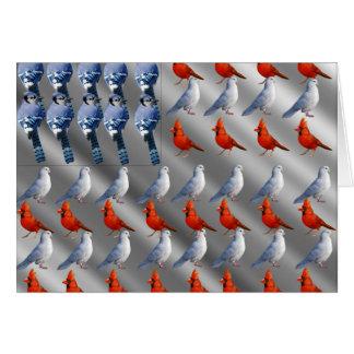 Bird American Flag Card