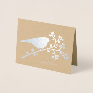 """Bird and Berries """"Thank You"""" Foil Card"""