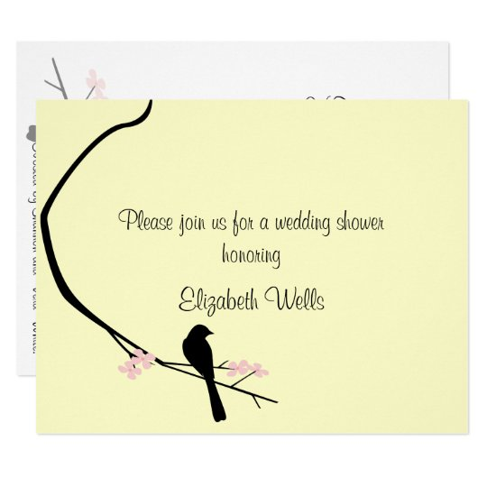 Bird and Blossom Invitation - Small