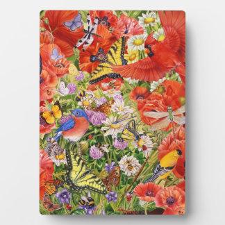 Bird and Butterflies  5 x 7 Easel Plaque